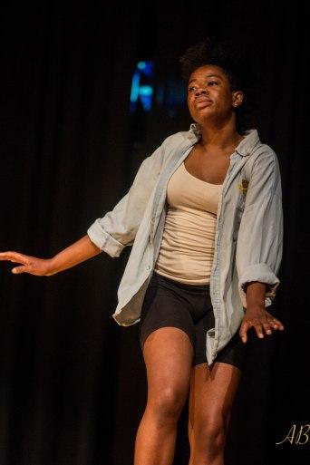 Black woman dancing at UNC's Body Politics